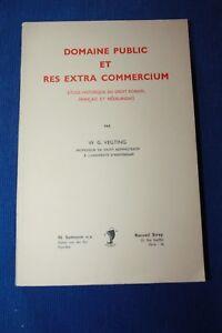 VEGTING-Domaine-public-et-res-extra-commercium-Etude-historique-droit-romain