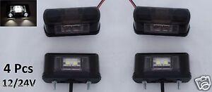 4x led beleuchtung vorne hinten kennzeichen nummernschild lampen auto lastwagen ebay. Black Bedroom Furniture Sets. Home Design Ideas