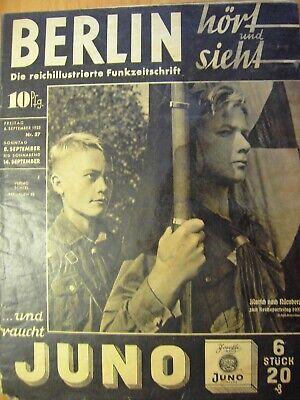 100% Wahr 5 Funkzeitschriften Aus 1935 - 1936, S. Text Und Bilder