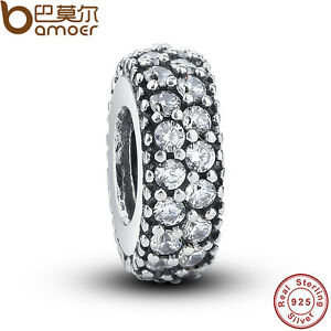 New-Shining-Authentic-S925-Sterling-Silver-Crystal-Charms-Fit-European-Bracelets