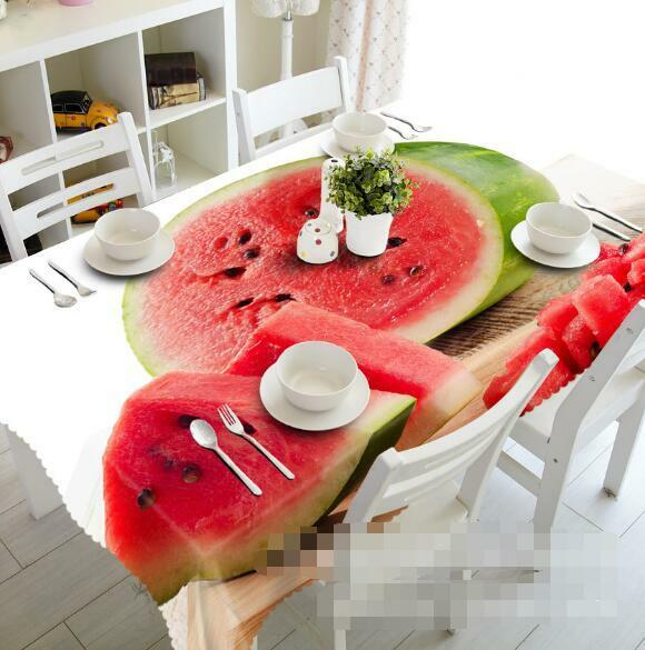 3D Watermelon 08 Tablecloth Table Cover Cloth Birthday Party Event AJ WALLPAPER