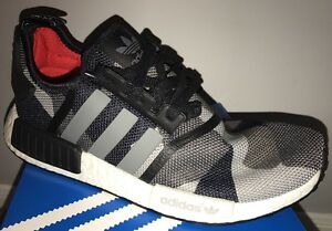 0bee0215f New ADIDAS NMD R1 GEOMETRIC CAMO CORE BLACK NAVY BLUE WHITE S79163 ...