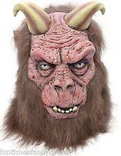 Halloween Diablo Demonio Máscara Con Cuernos satánicas Bestia Horror Lucifer Fancy Dress