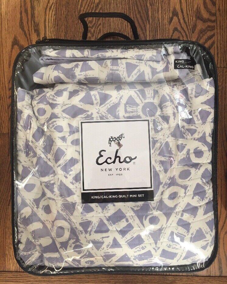 Neuf avec étiquettes Echo Mykonos Couette Mini Ensemble Complet Reine, violets EO80-1935