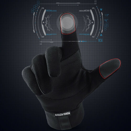 Thermal Touch Screen Warm Windproof Waterproof Anti-slip Full-finger Gloves UK
