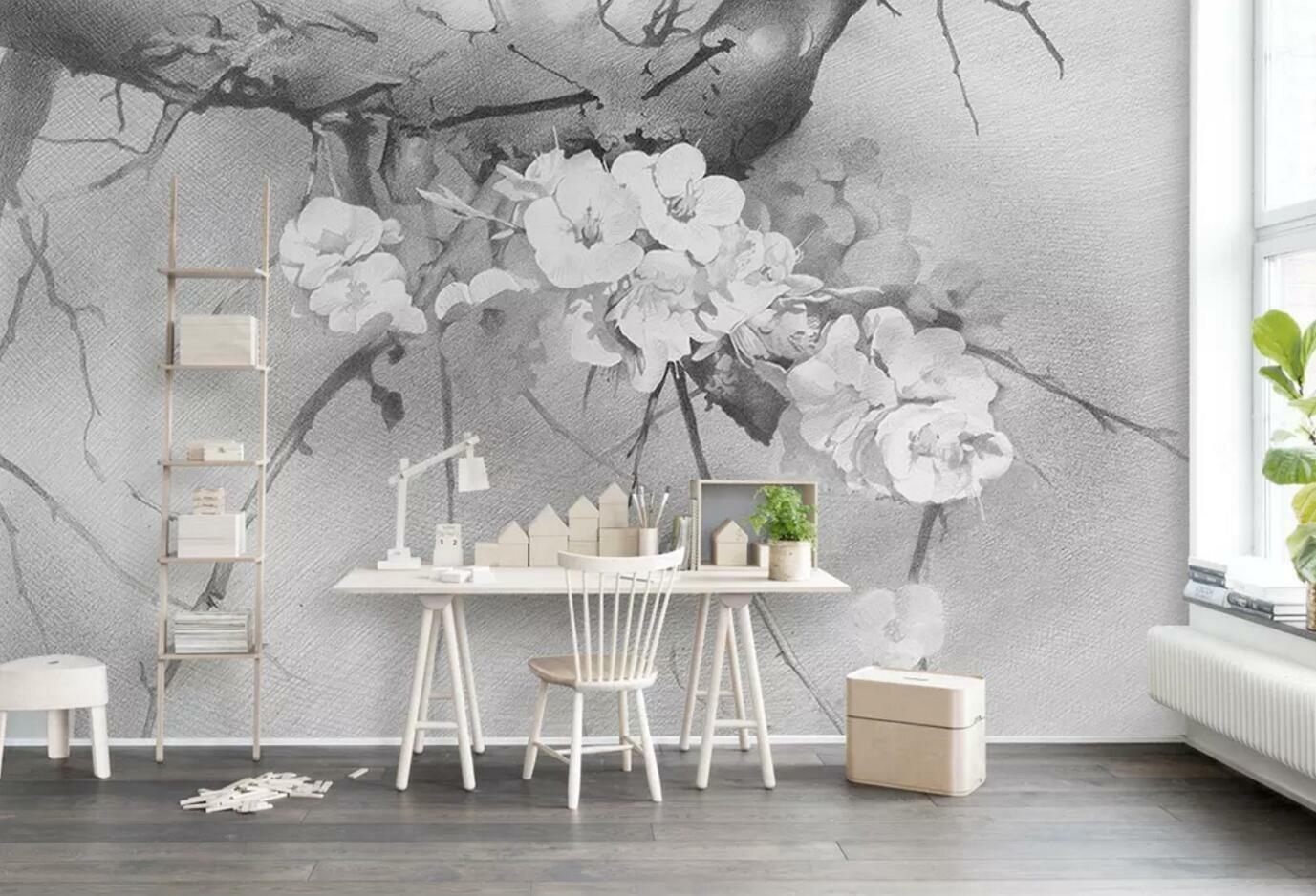 3D Flower Tree 8522 Wall Paper Exclusive MXY Wallpaper Mural Decal Indoor Wall