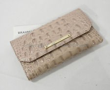 NWT! Brahmin Soft Checkbook Wallet in Silk Melbourne. Embossed Leather.