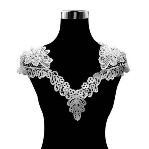 Applique Lace Fabric Sewing Embellishments Trims Patch DIY Neck Collar Decors