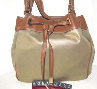 Michael Kors Marina Gold & Saddle Tote Large Drawstring Bag $268