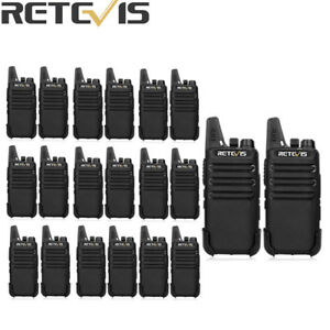 4XRetevis Walkie Talkies RT22 VOX TOT CTCSS/&DCS UHF462-467MHz 16CH Squelch radio