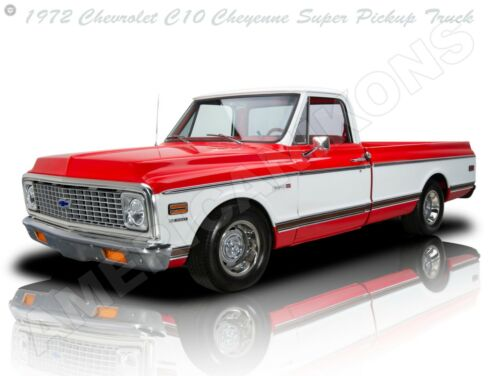 Fully Restored 1972 Chevrolet Cheyenne C10 Pickup Truck New Metal Sign