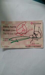 IRON-MAIDEN-STEVE-HARRIS-signed-British-Lion-ticket-stub-Very-rare-solo-tour