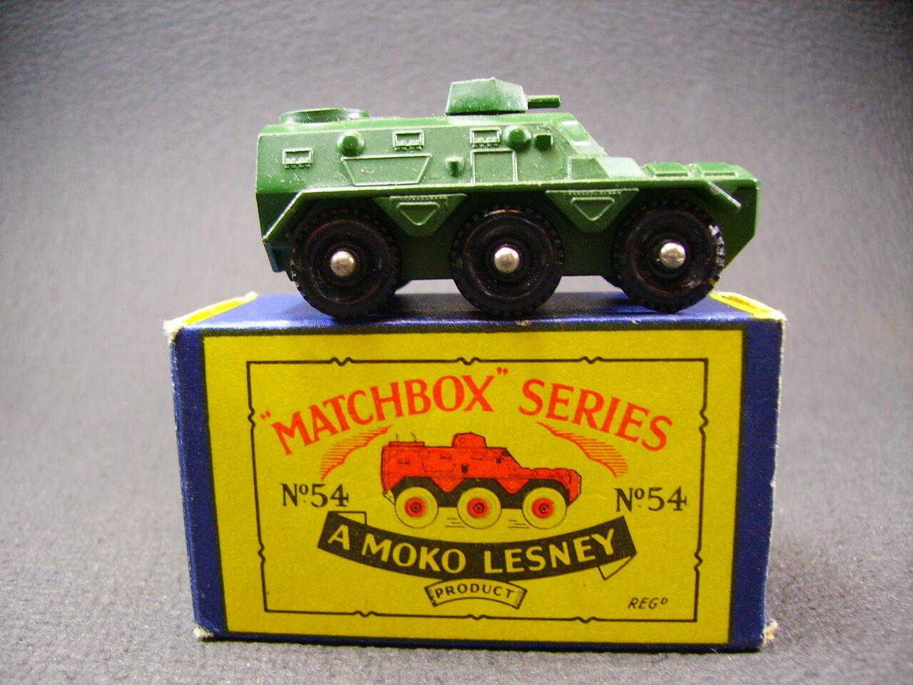 Matchbox Lesney Moko saracen personnel carrier 54a (1958) + england
