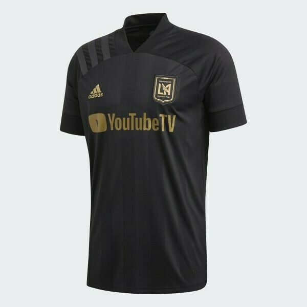 adidas Los Angeles FC Black Gold Home Jersey YouTube TV Size 2xl ...