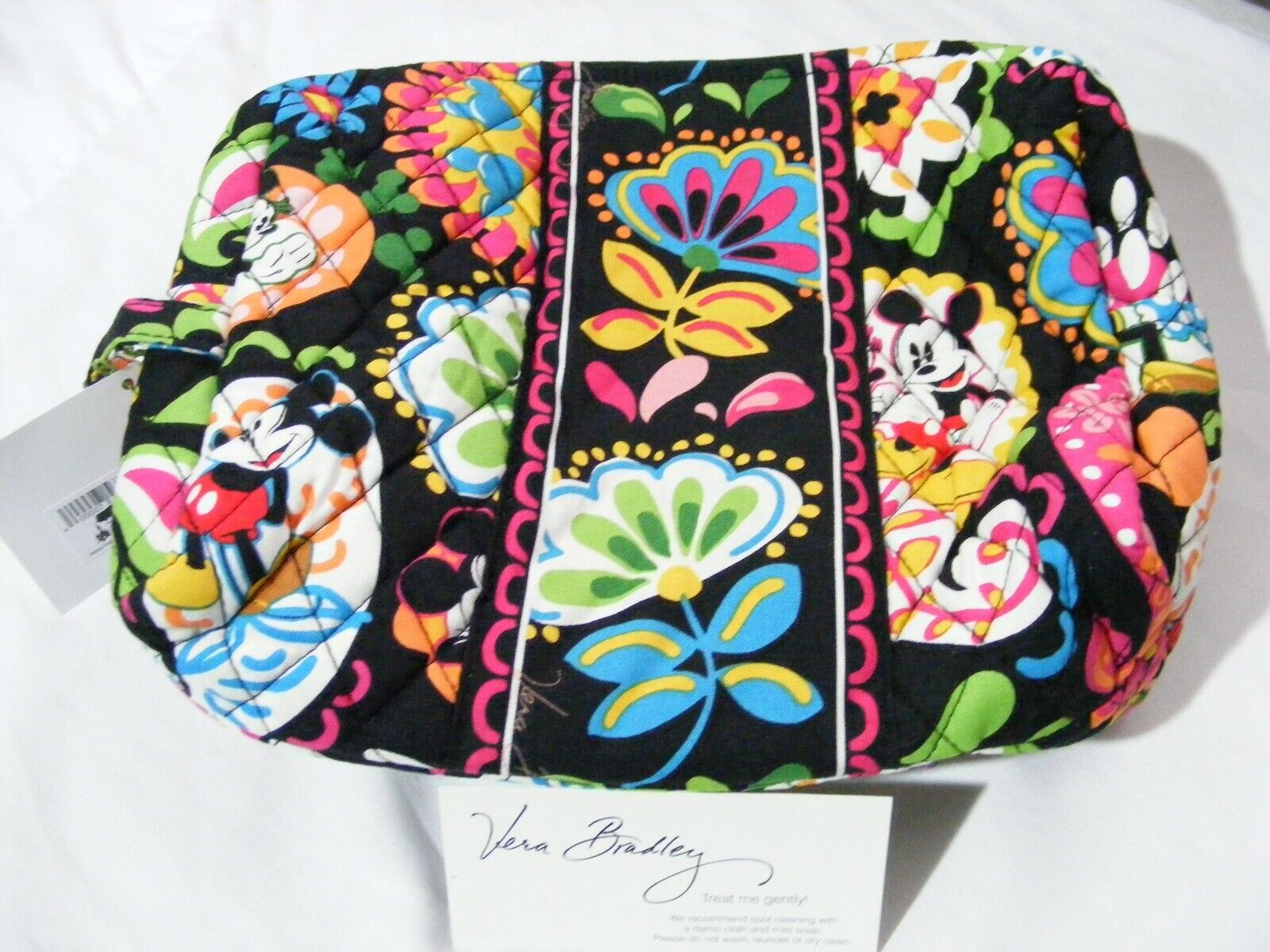 Vera Bradley Disney Midnight With Mickey Large Cosmetic Bag For Sale Online Ebay