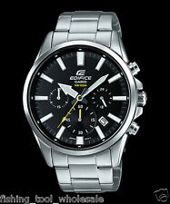EFV-510D-1A Black Men's Watches Casio Edifice Chronograph 100m World time New