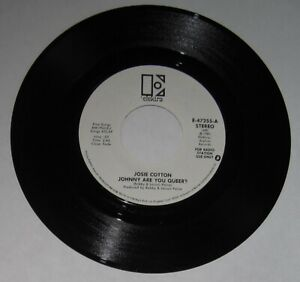 Josie-Cotton-DJ-promo-45-034-Johnny-Are-You-Queer-034-stereo-amp-mono-A-side-NM