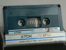 TDK SF 60 Super Fidelity Audio-Cassette Blau 1986-1987 UNBESCHRIFTET Tape MC