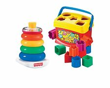 Fisher-Price Baby's First Blocks and Rock Stack Bundle take play, stacking