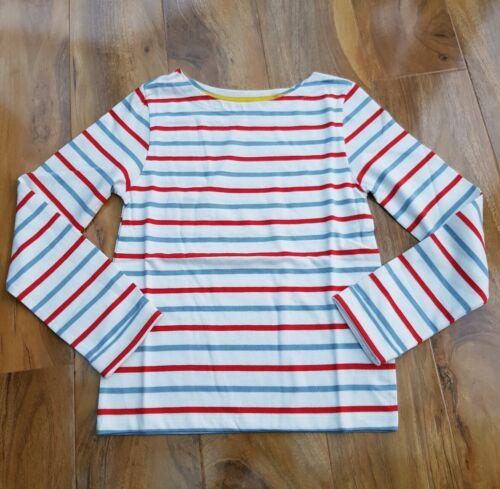 MINI Boden Ragazze Cotone a Righe Manica Lunga Breton T-shirt Top 30098 Nuovo di Zecca