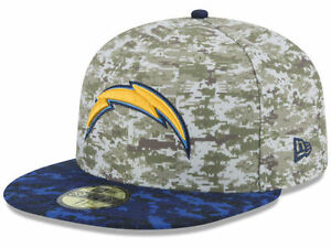 496221925 Official 2015 San Diego Chargers New Era 59FIFTY Hat NFL Salute to ...