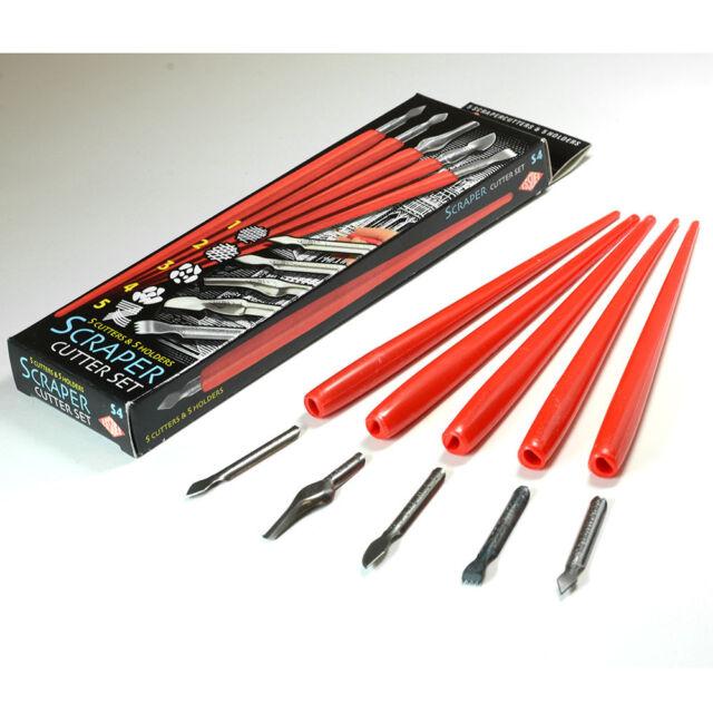 Essdee : Scraperboard Cutter Set : 5 Assorted Cutters & Holders