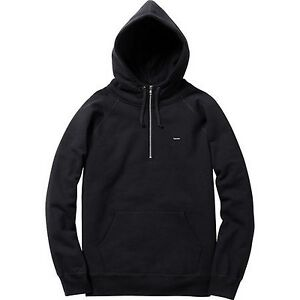 785255dfa793 SUPREME Small Box Half Zip Pullover Black M box logo comme cdg f W ...