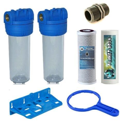 """Filtergehäuse SET 10 /"""" Filter u Zubehör Trinkwasser Osmose Wasser 1 Zoll inkl"""