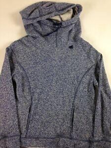 Be-Inspired-Hoodie-Long-Sleeve-Full-Neck-Womens-Small-Short-Sweatshirt-Blue-NEW