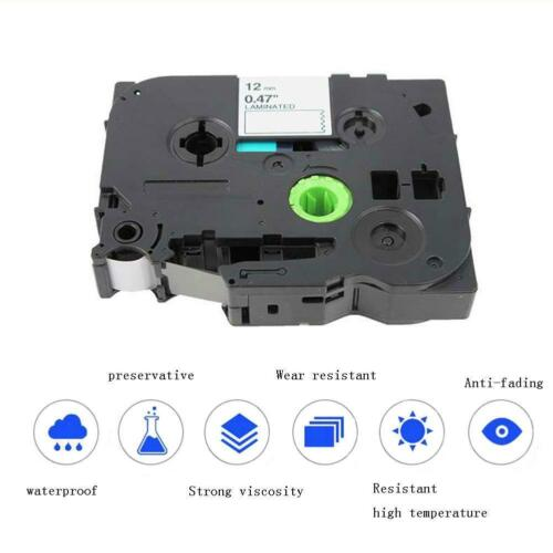 TZe231 Black on White Compatible for Brother P-Touch Label Tape 12mmx8m 50g