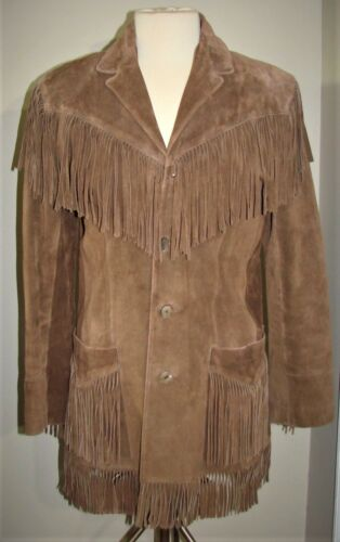 VINTAGE RALPH LAUREN BROWN SUEDE LEATHER FRINGE WE