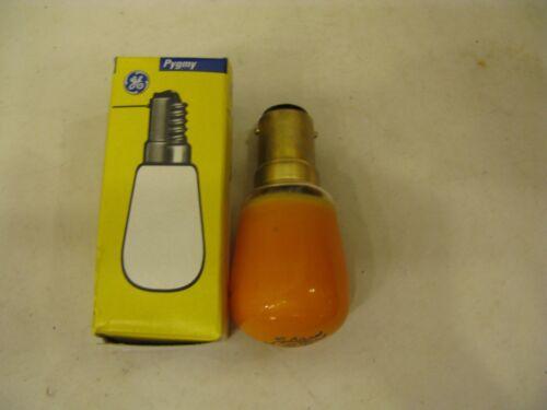 10x GE AMBER 15W  SBC B15 Pygmy Sign Lamp Light Bulb 28mm 240V Job Lot UK SELLER