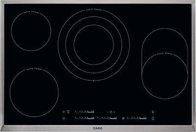 AEG HK854870X-B Autark Cerankochfeld Edelstahlrahmen 76,6cm Strahlungsheizung