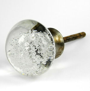 Image Is Loading Bubble Glass Knobs Cabinet Door Handle Or Antique