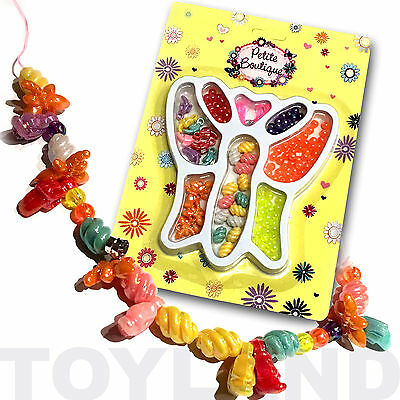 BUTTERFLY BEAD NECKLACE JEWELLERY CRAFT KIT TOY GIRLS BIRTHDAY PARTY BAG FILLERS