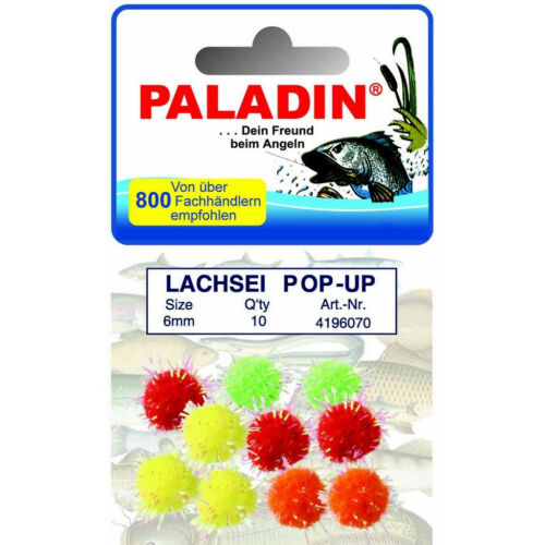 Forellenschlepper PALADIN Lachsei Pop-Up farbig 10 Stc