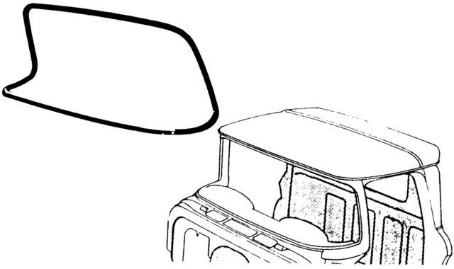 1960 1961 1962 1963 chevrolet gmc truck windshield seal deluxe w 1951 Oldsmobile Sedan 1960 1961 1962 1963 chevrolet gmc truck windshield seal deluxe w trim slot