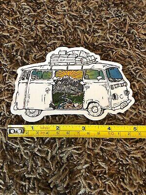 "Wild Tribute Yosemite National Park Van Sunset Sticker Sticker//Decal Approx 5/"""