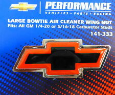 Proform 141-369 Black Crinkle Air Cleaner Wing Nut with Red Bowtie Logo for 1//4-20 Thread