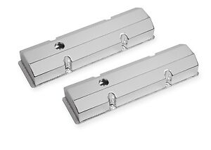 Mr Gasket 9800BP Flat Black Valve Cover for Small Block Chevy, Set of 2