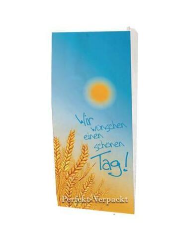 """1000 Faltenbeutel 20x7x40cm #433 Bäckerbeutel Papiertüten /""""schönen Tag/"""""""