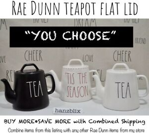 Rae-Dunn-Teapot-TEA-039-TIS-THE-SEASON-Flat-Lid-Small-034-YOU-CHOOSE-034-NEW-039-19-039-20