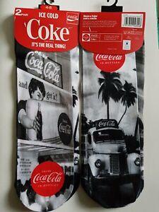 Ladies-Drink-Coca-Cola-in-Bottles-Truck-Vintage-2-Pairs-of-Socks-Set-New-4-8