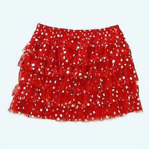 Skirts Girls' Clothing (newborn-5t) New Girls Toddler Tutu Ruffle Red And Sliver Stars Foil Print Skirt 12 18 24m 4t