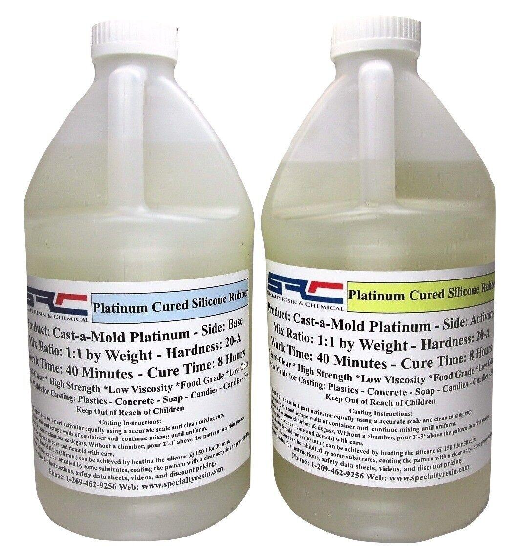 Platinum RTV Silicone Rubber For Mold Making  1 1 Mix Ratio Food Grade 1 Gallon