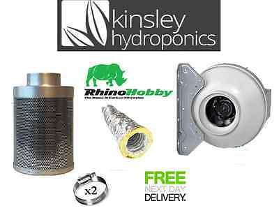 4 5 6 8 10 12 carboair Carbone Filtre RVK Kit de Ventilateur Acoustique conduits Hydroponics