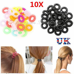 Image Is Loading 10x Spiral Plastic Hair Bands Baby S Ponytail