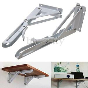 2pc 10 Quot White Metal Triangle Folding Shelf Bracket Support