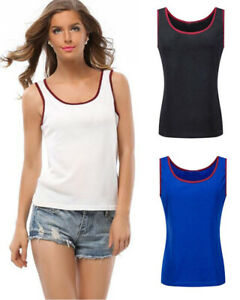 Women-039-s-Tank-Top-Loose-T-shirt-Sleeveless-Sports-Shirt-Casual-Sports-blouse-Tops