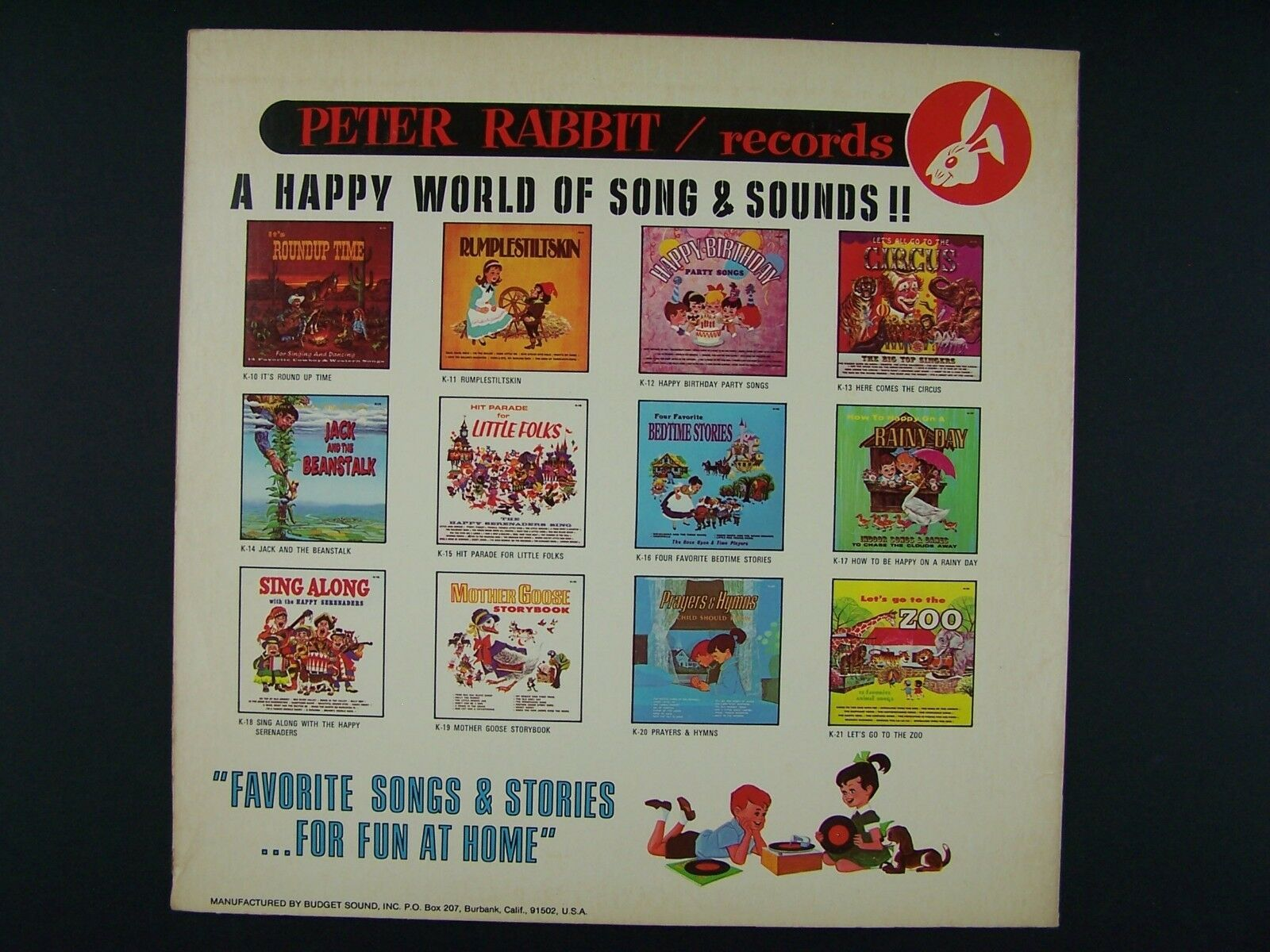 The Big Top Singers - Let's All Go To The Circus Vinyl